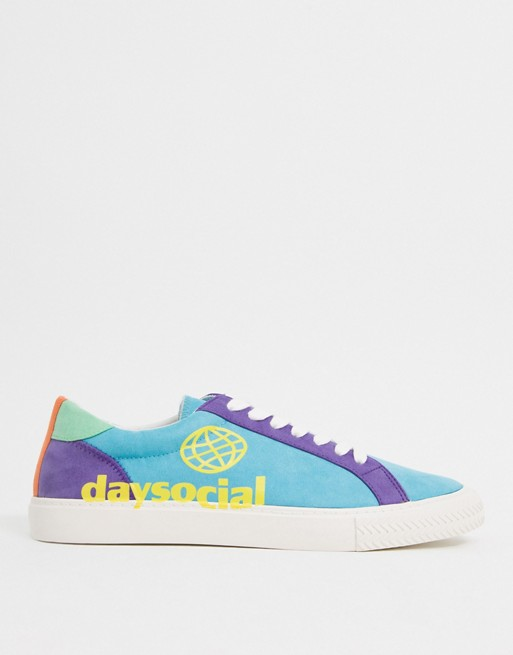 ASOS Day Social plimsolls in colour block